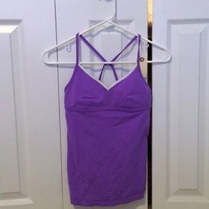 Lululemon purple padded tank top sz 4 56596